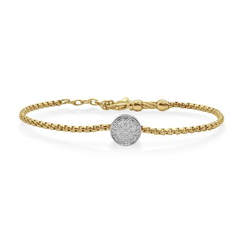 Yellow Cable Bracelet with Diamonds