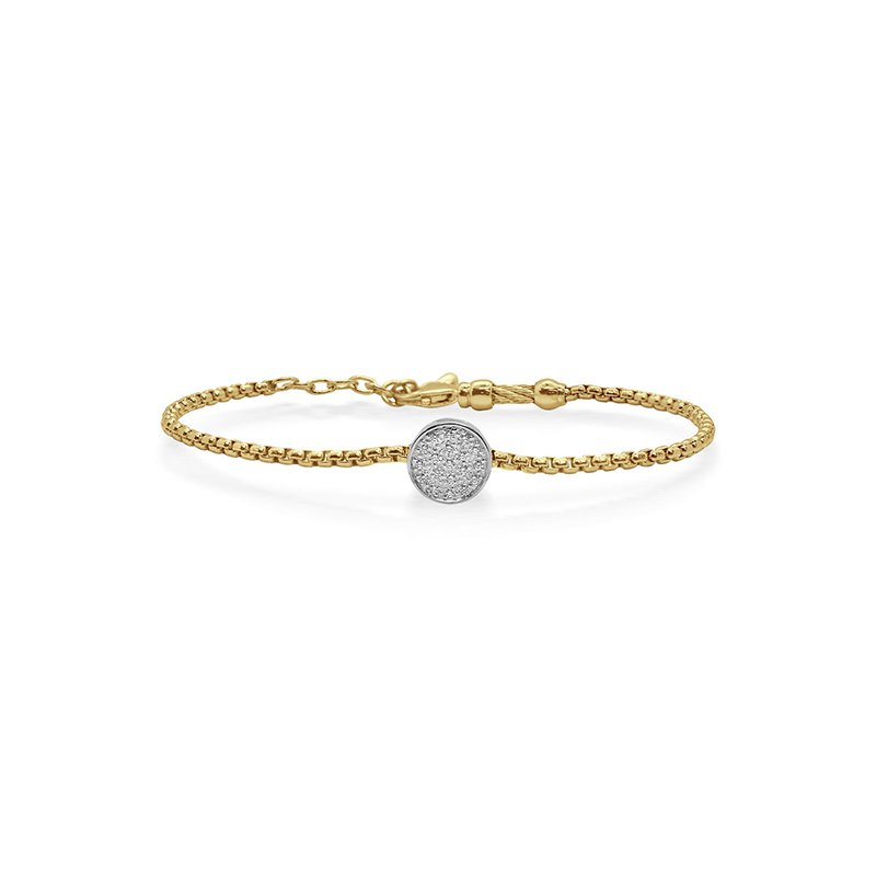 ALOR Yellow Cable Bracelet with Diamonds