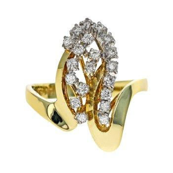Asymmetrical Diamond Cluster Ring