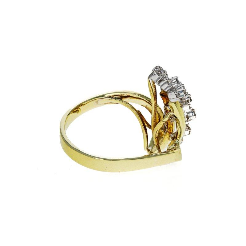 Estate Radcliffe Asymmetrical Diamond Cluster Ring