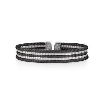 Black & Grey Cable Mini Cuff