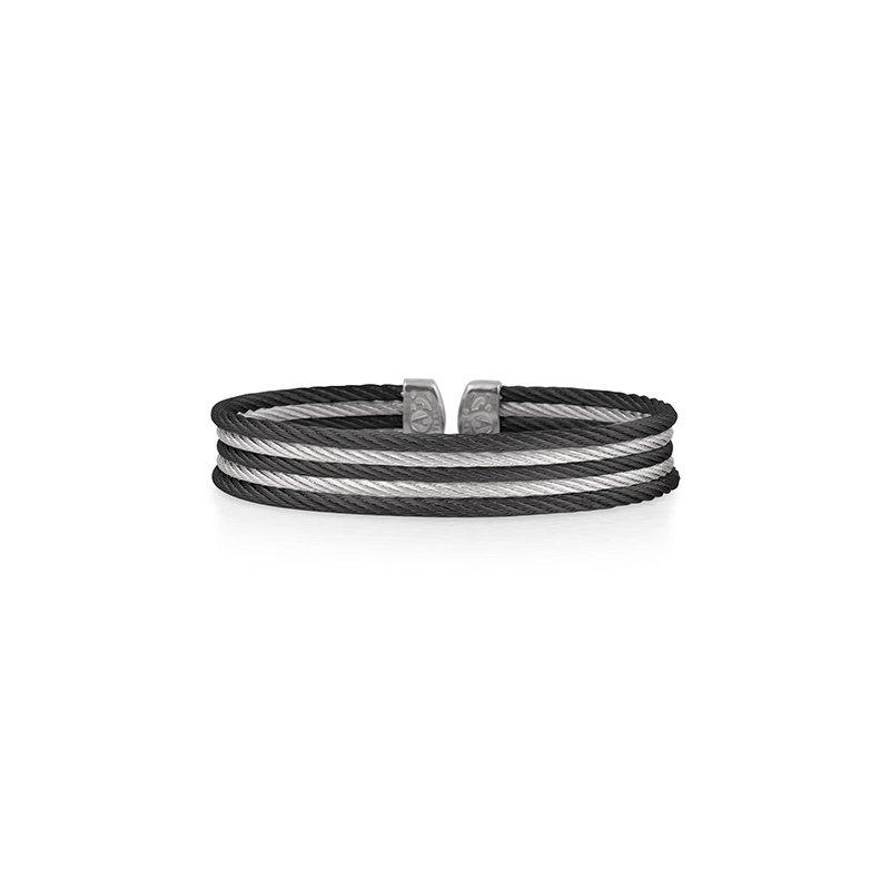 ALOR Black & Grey Cable Mini Cuff