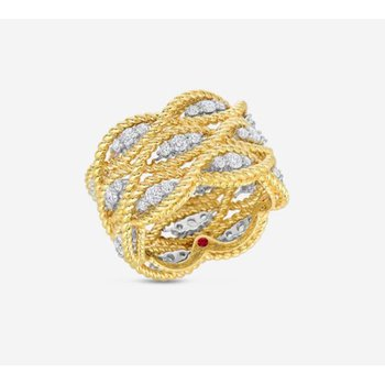 New Barocco Ring with Diamonds