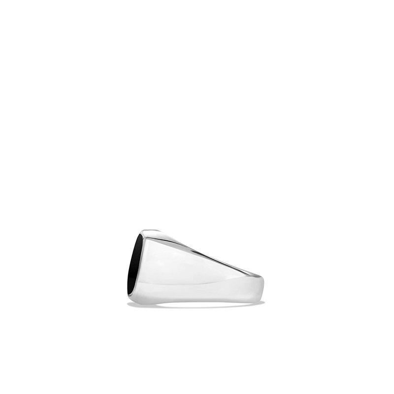 David Yurman Exotic Stone Ring with Black Onyx in Silver, 12mm