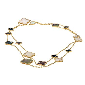 Magic Alhambra Onyx & Mother-Of-Pearl Necklace