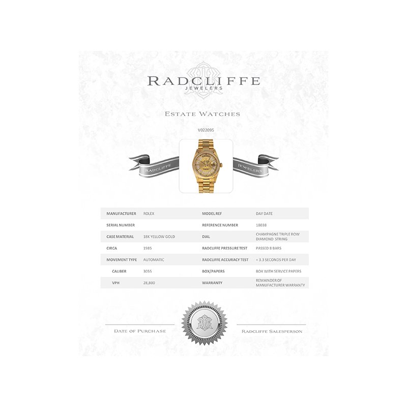 Pre-Owned Rolex Day-Date (Ref. 18038)