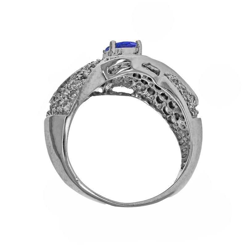 Estate Radcliffe Tanzanite & Diamond Ring