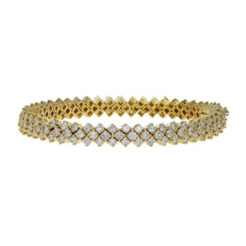 Triple Row Diamond Tennis Bracelet