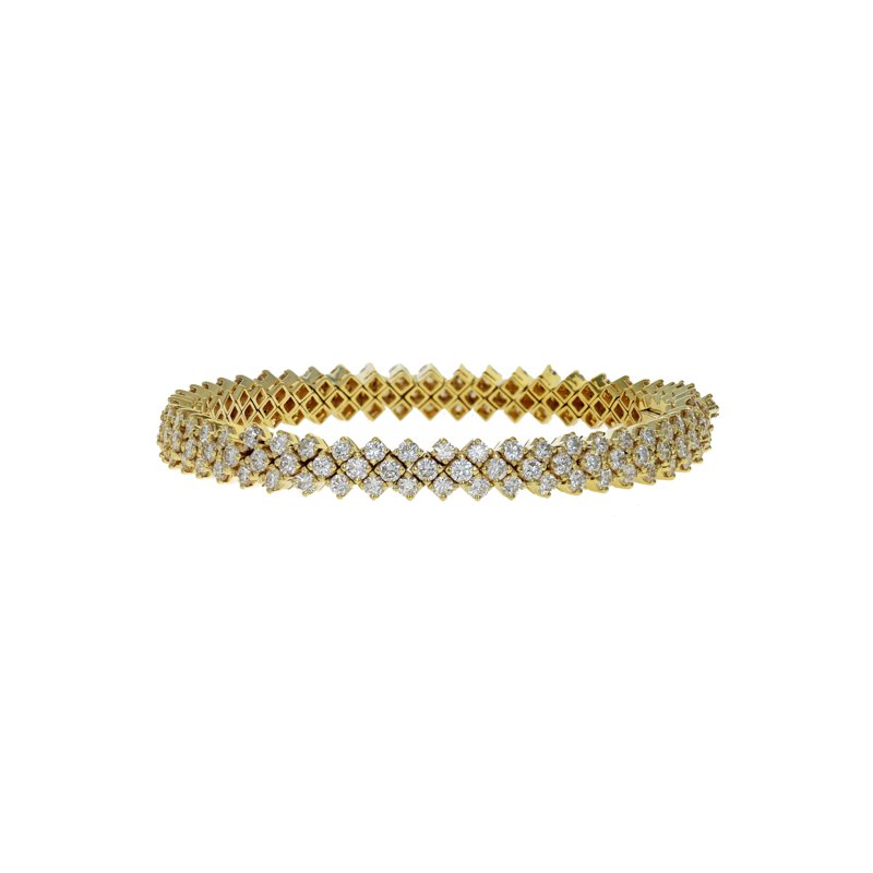 Estate Radcliffe Triple Row Diamond Tennis Bracelet