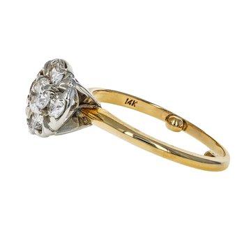 Diamond Cluster Flower Ring