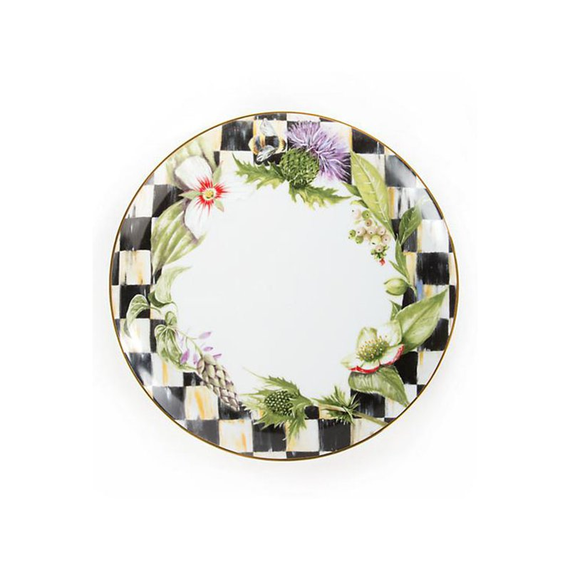 Mackenzie-Childs Thistle & Bee Dinner Plate, Garland