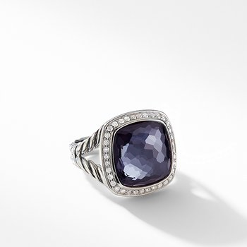 Ring with Lavender Amethyst and Diamonds