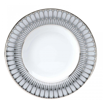 Arcades Grey & Platinum Rim Soup Bowl