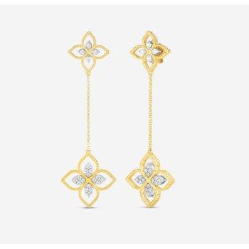 Principessa Diamond Flower Drop Earrings