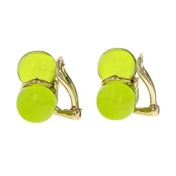 Baccarat Glass Ball Earrings