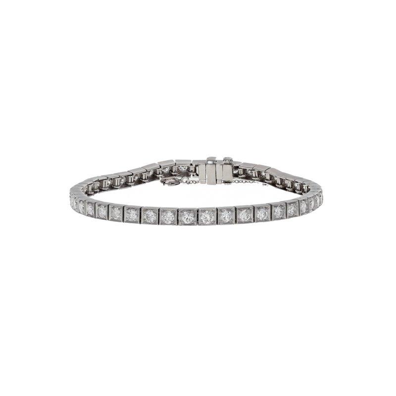 Estate Radcliffe Square Link Diamond Tennis Bracelet