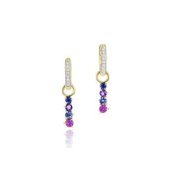 Dusk Enchanted Huggie Drop Earrings