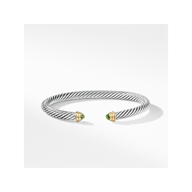 David Yurman Cable Classics Collection® Bracelet with Peridot and 14K Gold