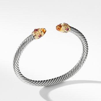 Bracelet with Citrine, Rhodalite Garnet and 14K Gold