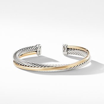 Crossover Cuff with Gold