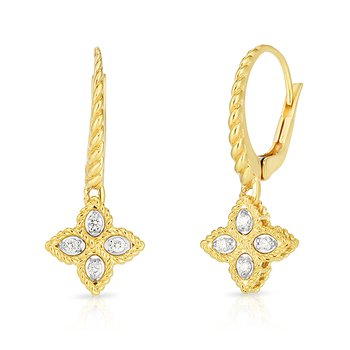 Princess Flower Drop Earrings