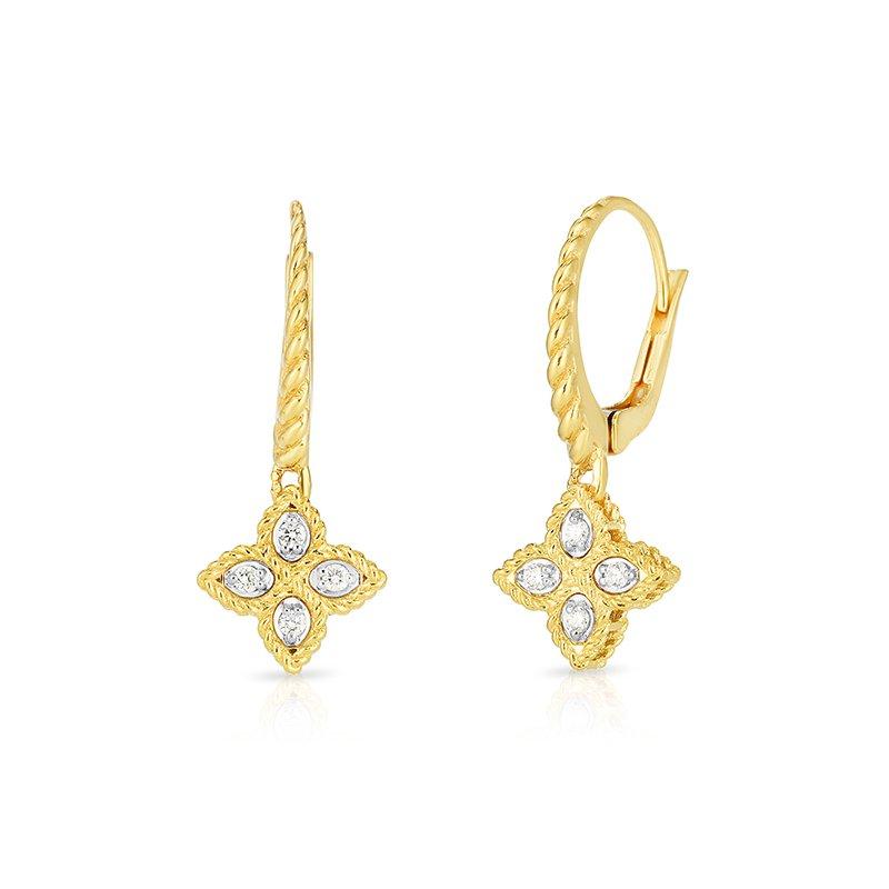 Roberto Coin Princess Flower Drop Earrings