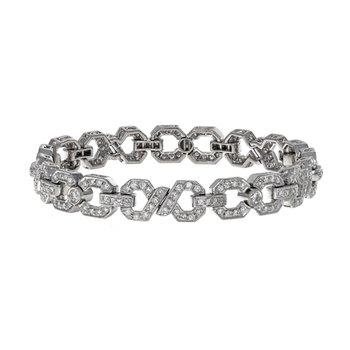 Diamond Twisted Link Bracelet