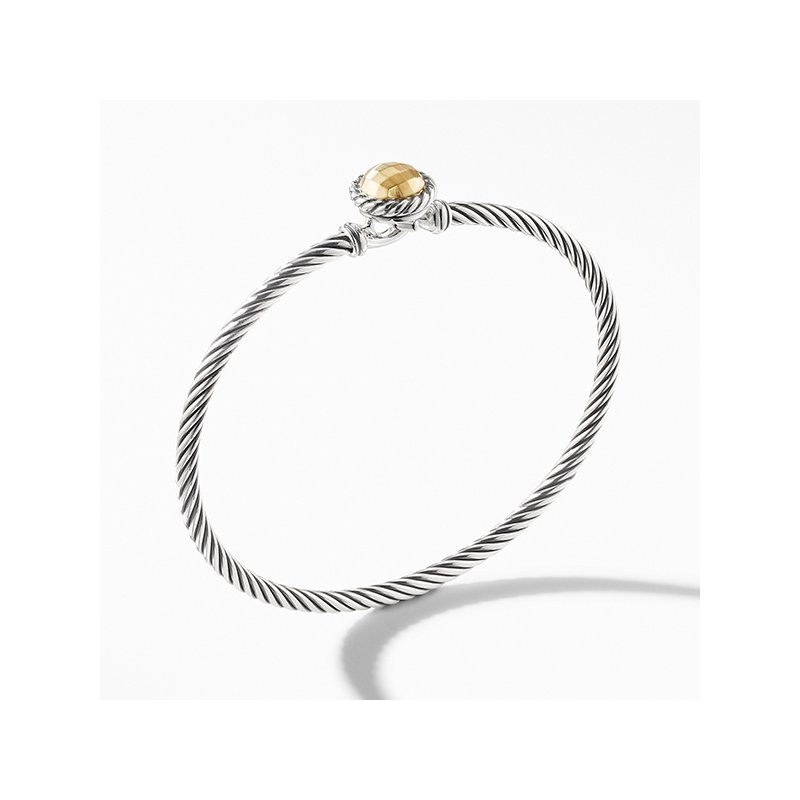 David Yurman Chatelaine Bracelet with Gold Dome and 18K Gold