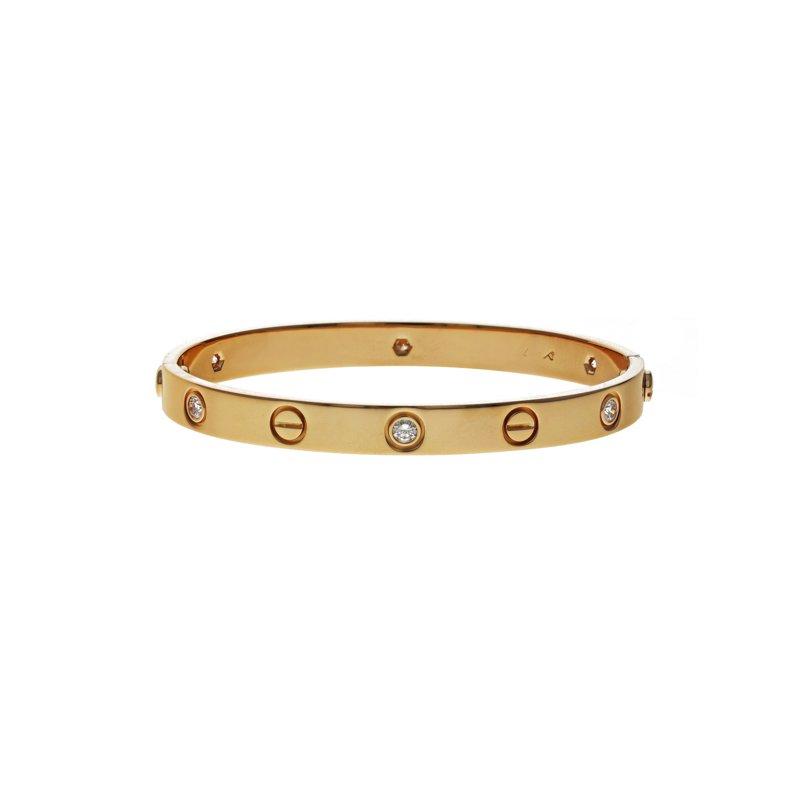 Estate Cartier 6 Diamond Love Bracelet