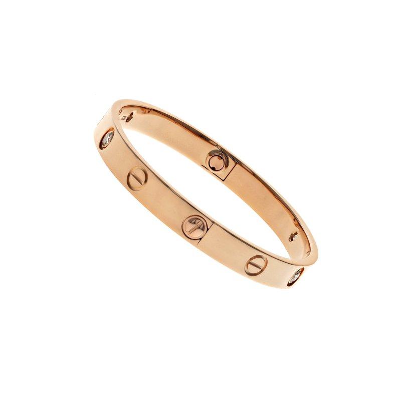 Estate Cartier 4 Diamond Love Bracelet
