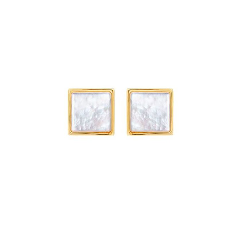 Honora Square Mother-of-Pearl Stud Earrings