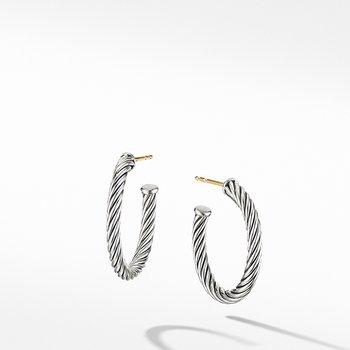 Small Cable Hoop Earrings