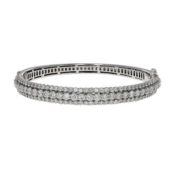 Three Row Diamond Bracelet