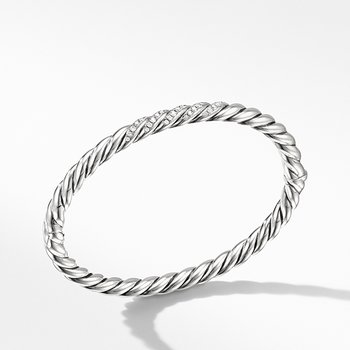 Stax Cable Bracelet with Diamonds