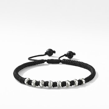 DY Fortune Woven Bracelet in Black with Black Onyx