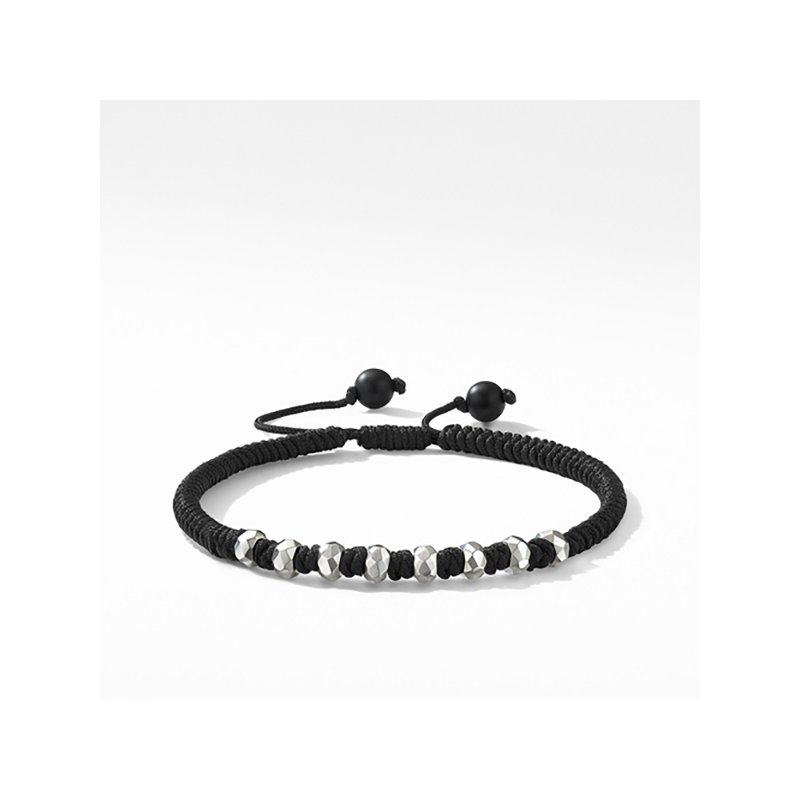 David Yurman DY Fortune Woven Bracelet in Black with Black Onyx