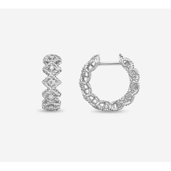 Roman Barocco Diamond Hoop Earrings