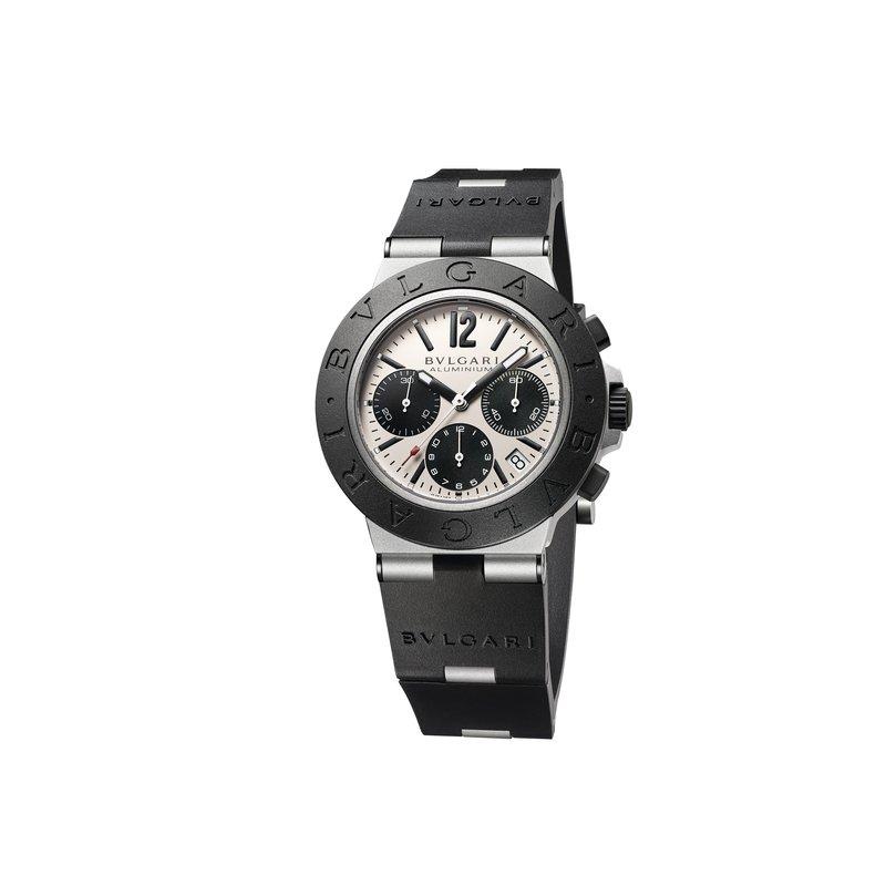 Bvlgari Watches Aluminium Chronograph Watch