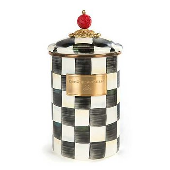 Courtly Check Enamel Canister-Large