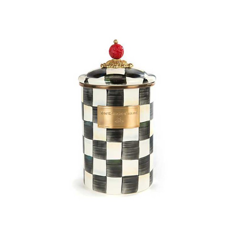 Mackenzie-Childs Courtly Check Enamel Canister-Large
