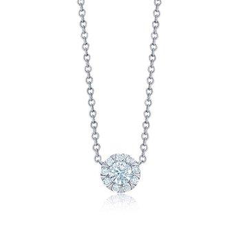 Sunburst Diamond Solitaire Pendant