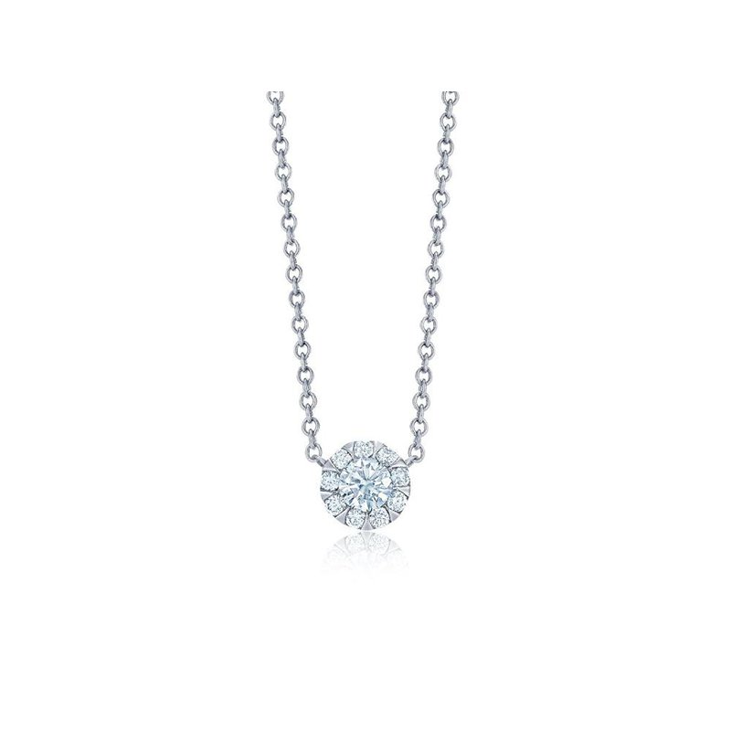 Kwiat Sunburst Diamond Solitaire Pendant