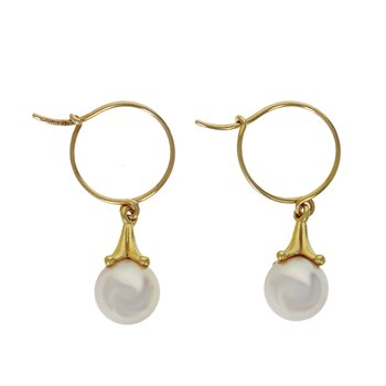 Pearl & Tulip Earrings