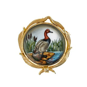Painted Duck Pin & Pendant