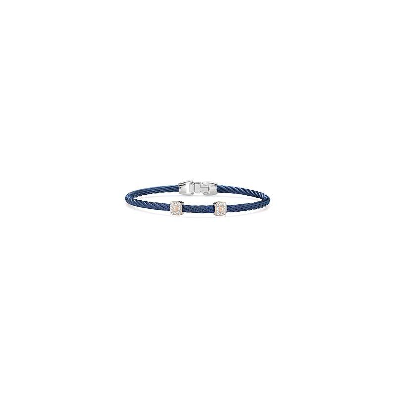 ALOR Blueberry Cable Essential Stackable Bracelet