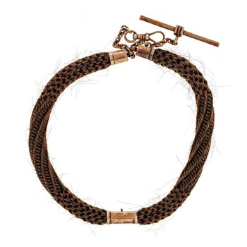 Victorian Mourning Hair Watch Chain