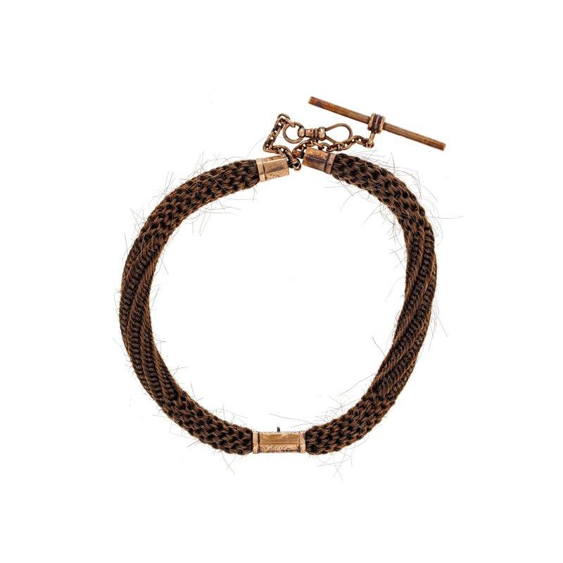 Estate Radcliffe Victorian Mourning Hair Watch Chain