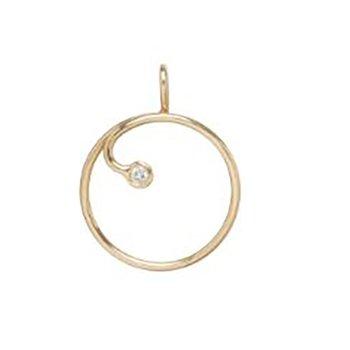 Circle Charm With Diamond