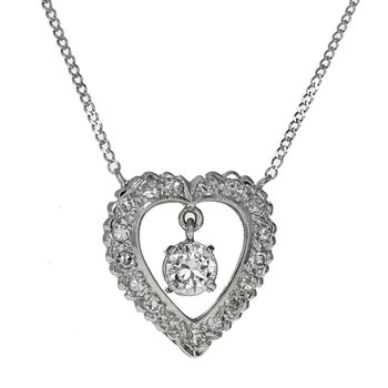 Open Heart Diamond Necklace