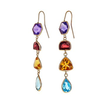 Multicolor Gemstone Drop Earrings